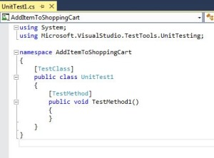 C# Code In Visual Studio