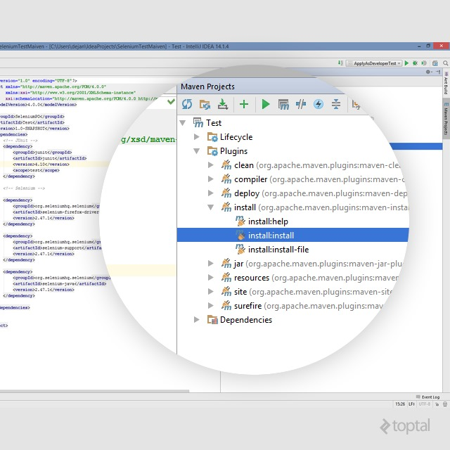Aditya learn selenium testing if not just activate plugins install installinstall under the maven projects panel on the right side of your intellij idea ide ccuart Gallery